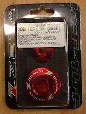 HONDA  CRF250 R  CRF 250 R  CR250F R   2010-2017  ZETA ENGINE PLUGS  RED