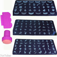 1 Kit Chiusura e Piastra di metallo Stampo per unghie Nail Stamp Decorazione