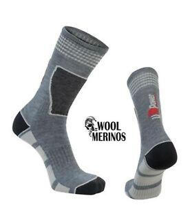 U-Power Merino Wool Frozen  Mens Padded Mid Work Warm Socks Grey Silver