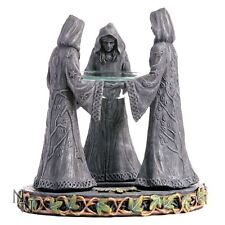 Magik Circle Oil Burner 14cm High Tea Light Holder Wax Melts Magic Pentagram