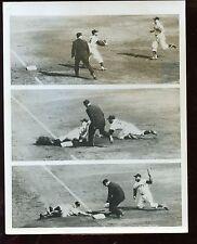 Original Sept 29 1954 Indians vs Giants World Series Opener Baseball 7 X 9 Wi...