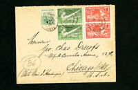 France Stamps 198-99 with Semi-Postal on Cover to Chicago