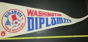 Vintage 1970s Washington Diplomats North American Soccer League Felt Pennant DC
