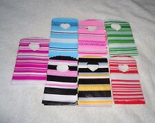 50 STRIPE PATTERNED SMALL PLASTIC GIFT JEWELLERY PARTY BAGS 15x9cm