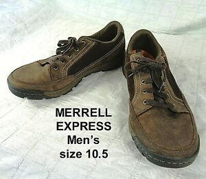 Merrell Traveler Sphere Brown Leather Casual Hiking Shoes Mens Size 10.5 J42355