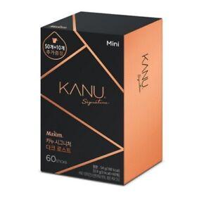 Korea Maxim KANU Signature Dark Roasted Americano Instant Coffee 0.9g*60 Sticks