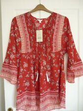 MONSOON BEACH PRISCILLA RED KAFTAN DRESS. MED UK 12-14, EUR 40-42, US 8-10 BNWT
