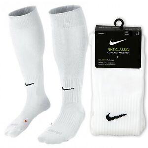 Nike Classic Knee High Over The Calf Soccer Sock White SX5728-100 Cushioned 2 II