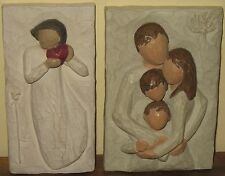 Willow Tree A Lifetime of Love Family From the Heart Plaque Wall Hanging Set
