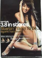 "AYUMI HAMASAKI ""STARTIN'/BORN TO BE"" ASIAN PROMO POSTER"