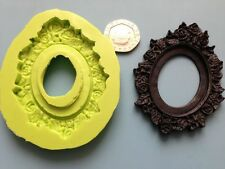 gothic style frame silicone mould - cake decoration, sugarpaste, fimo
