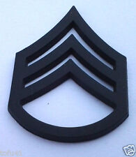 US ARMY RANK E6 STAFF SGT (SUBDUED) Military Veteran Collar Hat Pin P12753 EE