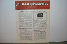 PHILCO RADIO PHONOGRAPH SERVICE MANUAL 50-1420 (8 PAGES)