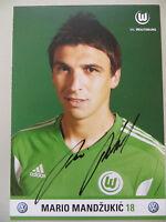 Handsignierte AK Autogrammkarte *MARIO MANDZUKIC* VFL Wolfsburg 11/12 2011/2012