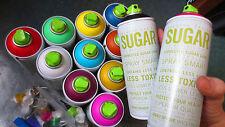 SUGAR Matte Finish Spray Paint - 400ML cans -  Graffiti Aerosol Art - 12 PACK