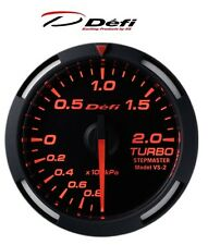 Defi Racer 60mm Car Boost 2 Bar Gauge - Red