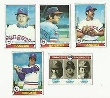 VINTAGE 1979 TOPPS BASEBALL CARDS – TEXAS RANGERS – MLB
