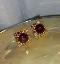chuck clemency NYCII 18k Yellow Gold/sterling silver Garnet citrine Earrings