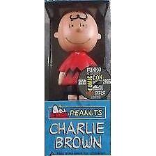 Funko 08041 Charlie Brown Red Shirt Comic Con 2006 Wacky Wobbler Bobble Head Pop