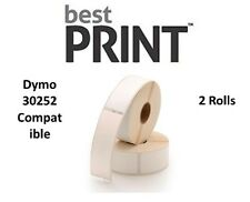 Best Print 12 Rolls Labels DYMO Compatible for LabelWriter Label Printers  30252