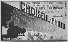 PUBLICITÉ 1928 CHOISEUL PHOTO ICA ERNEMANN BELL & HOWELL KODAK - ADVERTISING