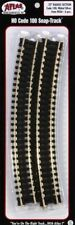"Atlas #833 18"" Radius Track (6 pcs./pk) HO Code 100 Nickel Silver Rails"