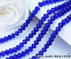 Faceted Rondelle Bicone Glass Crystal Loose DIY Beads Assorted 8mm 35pc 013