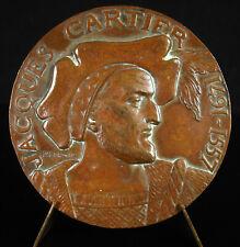 Médaille Jacques Cartier Navigateur explorateur découverte du Canada Saint-Malo