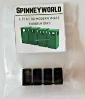 OO Gauge (1:76) modern square bins (4) 3D printed for model railways