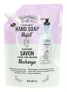 J.R. Watkins Hand Soap LAVENDER 34 fl oz Refill Pouch