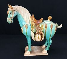 Tang Dynasty Style Chinese Porcelain Horse With Fine Painted Details