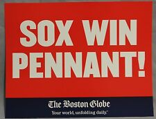 2004 Red Sox Win Pennant Boston Globe Newspaper Machine Poster Sign Card Rare
