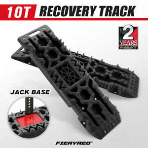 FIERYRED Pair Recovery Tracks 10T Extraction Board Snow Mud Tracks 10Ton 4WD