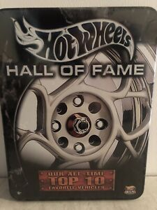 Hot Wheels Hall of Fame tin Top 10 Favorite Vehicles Sealed