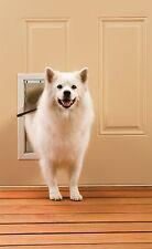 PetSafe Medium Freedom Aluminum Pet Door, Premium White In Out Dog Cat Safe Flap