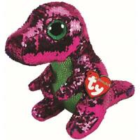 """Ty Beanie Boos Flippables 6"""" STOMPY Dinosaur Color Changing Sequins Plush MWMTs"""