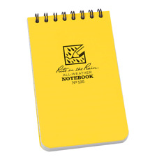 """RITE IN THE RAIN YELLOW  3"""" X 5"""" ALL WEATHER WATERPROOF NOTEPAD FIELD NOTES N135"""