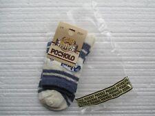 Nuevo 2 pares de calcetines de Pocholo Diseñador Azul Oscuro & Beige Eur Talla 25/27 Nuevo Jeans