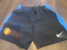 Pantalones cortos de fútbol del Manchester United 2010-2011 lejos Talla 12-13 años de cintura/Bi
