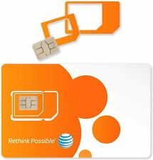 $75/month At&T 4G Lte Unlimited Data Sim Card for Hotspots, Wireless Routers