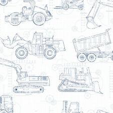York Wallcoverings KS2350 A Perfect World Construction BlueprintWallpaper