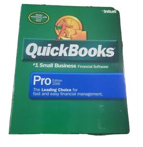 Quickbooks Pro Edition 2006 for Windows 2000/XP INTUIT used good condition