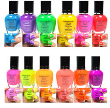 KLEANCOLOR NEON COLORS 12 FULL COLLETION SET NAIL POLISH LACQUER 12 NEONSET 24
