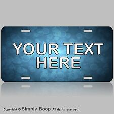 Personalized Your Text Name Custom License Plate Auto Car Tag Blue Bubles Cool!