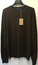 "Paul Smith Knitwear CREW NECK Brown Pullover L Pit to Pit 22""/ 56cm"