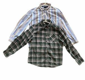 Shaun White Wrangler Boys Long Sleeve Button Down Cotton Shirt Lot of 2 Sz S 6/7