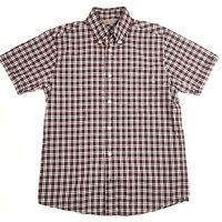 Carhartt Mens Rugged Outdoor Wear Short Sleeve Check Shirt Size Small
