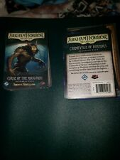 Arkham Horror CURSE OF THE ROUGAROU Scenario Pack with carnevale of horror used