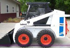 Bobcat 741,742,743 & 743 DS Skid Steer MANUALE OFFICINA inviato come un download