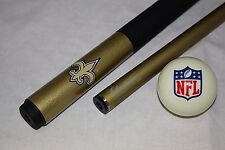 Official NFL New Orleans SAINTS Billiard Pool Cue Stick & NFL Logo Cue Ball NEW